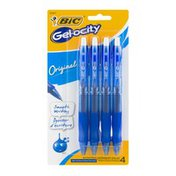 BiC Gel-ocity Gel Pens Medium Blue - 4 CT