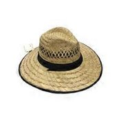 San Diego Hat Company Natural Outback Hat With Black Band
