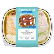 Home Chef Pork Empanada Bowl With Cilantro Rice And Crispy Tortilla Strips