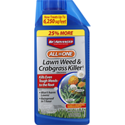 BioAdvanced Lawn Weed & Crabgrass Killer, All in One, Concentrate