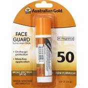 Australian Gold Sunscreen Stick, Face Guard, SPF 50