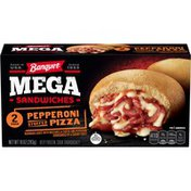 Banquet Mega Sandwiches Pepperoni Stuffed Pizza