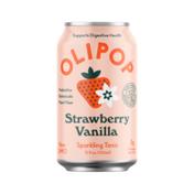 Olipop Strawberry Vanilla Sparkling Tonic Cans