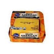 Kroger Deluxe American Pasteurized Process Cheese Slices