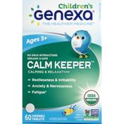 Genexa Kids' Calm Keeper Organic Vanilla Lavender Flavor Chewable Tablets