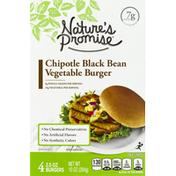 Nature's Promise Vegetable Burger, Chipotle Black Bean