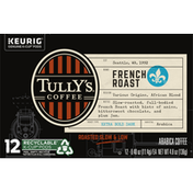 Tully's Coffee Coffee, Arabica, Extra Bold Dark, French Roast, K-Cup Pods