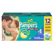 Pampers Baby Dry Diapers Size 4 Super Pack 96 Count