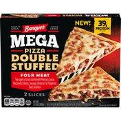 Banquet Mega Pizza Double Stuffed Four Meat