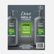 Dove Men+Care Body Wash And Face Wash Extra Fresh