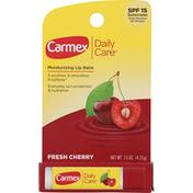 Carmex Lip Balm, Moisturizing, Fresh Cherry, SPF 15 Sunscreen