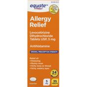 Equate Allergy Relief, Original Prescription Strength, 5 mg, Tablets