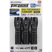 Bell Howell Flashlight, High Performance, 3 Pack