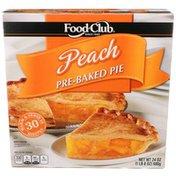Food Club Peach Pre-Baked Pie