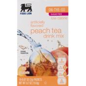 Food Lion Drink Mix, Sugar Free, Peach Tea, On-The-Go, Box
