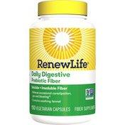 Renew Life Daily Digestive, Prebiotic Fiber, Capsules