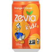 Zevia Sparkling Drink, Orange Cream