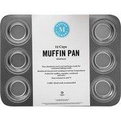 Martha Stewart Muffin Pan, Aluminum, 12 Cups