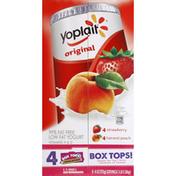 Yoplait Yogurt, Low Fat, Strawberry, Harvest Peach