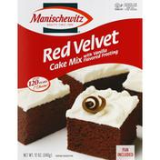Manischewitz Cake Mix, Red Velvet, with Vanilla Flavored Frosting