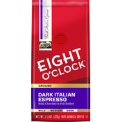 Eight O'Clock Coffee Dark Italian Espresso Ground Coffee