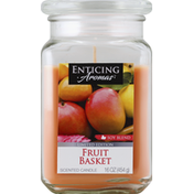 Enticing Aromas Scented Candle, Fruit Basket, Soy Blend