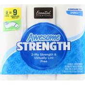 Essential Everyday Paper Towels, Awesome Strength, Giant Rolls, 2-Ply