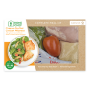 Home Chef Cheese-Stuffed Chicken Milanese With Spinach & Artichoke Salad Meal Kit