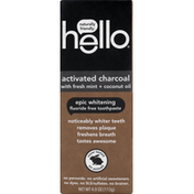 hello Toothpaste, Fluoride Free, Epic Whitening, Activated Charcoal