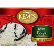 Kemps Ice Cream, Real, Mint Fudge
