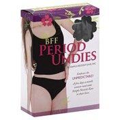 Simple Necessit Ease Period Undies, BFF, Bikini Brief, XS, Black
