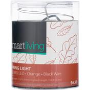 Smart Living String Light, Orange, Black Wire, 60 SMD LED