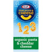 Kraft Macaroni & Cheese Dinner with Organic Pasta Number Shapes & Cheddar Cheese
