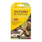 FUTURO Revitalizing Ultra Sheer Knee Highs for Women Moderate Medium/Nude