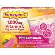 Emergen-C Vitamin C Fizzy Drink Mix Pink Lemonade, Vitamin C Fizzy Drink Mix Pink Lemonade