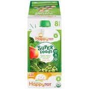 Happy Tot Organic Superfoods/Organic Apples, Spinachs, Peas & Broccoli + Super Chia Snack Pouch