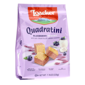 Loacker Quadratini Blueberry-Yogurt, Bite-size Wafer Cookies