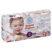 The Honest Company Diapers, Honest, Rose Blossom, Size 2 (12-18 Pounds)