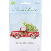Fresh Scents Scented Sachets, Merry Christmas, 3 Pack
