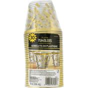 Amscan Tumblers, Plastic, 9 Ounce