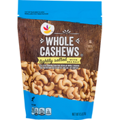 SB Cashews, Whole, Lightly Salted