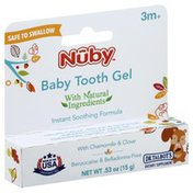Nûby Baby Tooth Gel, with Chamomile & Clove