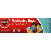 Roundy's Storage Bags, Reclosable, Quart Size