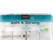 Essential Everyday Bathroom Tissue, Soft & Strong, Double Rolls, Two-Ply