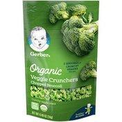 Gerber Organic Veggie Crunchers Chopped Broccoli Crunchy Veggie Snack