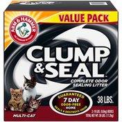 Arm & Hammer Clump & Seal Multi-Cat Complete Odor Sealing Cat Litter