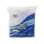 First Street Clear Heavy Duty Plastic Knives