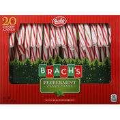 Brach's Candy Canes, Peppermint, with Real Peppermint