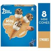 Blue Bunny Mini Swirls S'more Cones