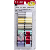 Singer Thread Spools, Polyester, Hand Sewing